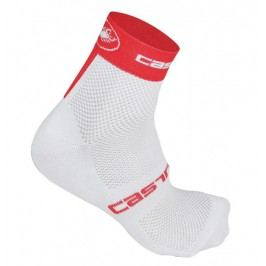 Castelli Free 6 Sock white/red L/XL