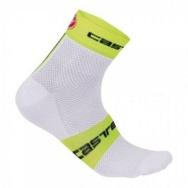 Castelli Free 6 Sock white/yellow fluo L/XL