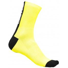 Castelli Distanza 9 Sock yello fluo/black L/XL