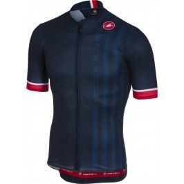 Castelli Podio Doppio Jersey FZ dark infinity blue L