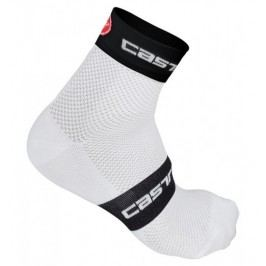 Castelli Free 6 Sock white/black/red L/XL