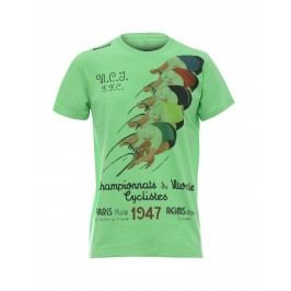 Santini tričko Uci Rainbow 2018 zelené M