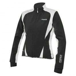 Force bunda X71 Lady softshell černá-bílá