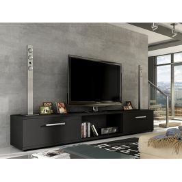 Televizní stolek MOLTON RTV, černý mat