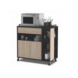 INDAS, kuchyňská skříňka 2D1S, dub/černá