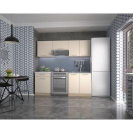 Kuchyně MARIJA 140/200 cm, korpus: dub sonoma, dveře: vanilka