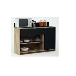 MIKE, kuchyňská skříňka, dub/černá