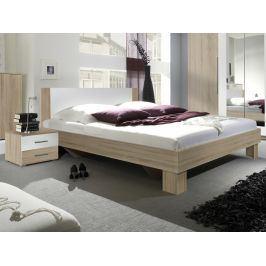 VERA postel 180x200 cm s nočními stolky, dub sonoma/bílá