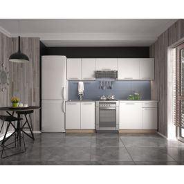 Kuchyně DARIA 180/240 cm, korpus: dub sonoma, dvířka: bílé