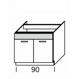 KAMDUO, dolní skříňka DUO DZ9, zebrano/hruška