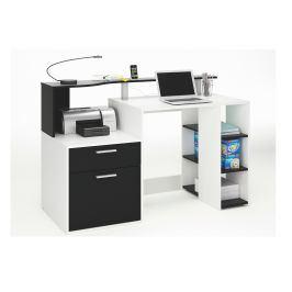 ORACLE, psací stůl, bílá/černá, psací stůl, bílá/černá