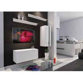 Obývací stěna BOX 11, bílá/bílý lesk