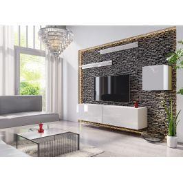 Obývací stěna BOX 16, bílá/bílý lesk