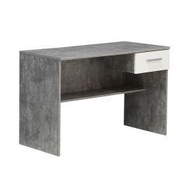 Psací stůl LUPO LPB20, beton/bílá