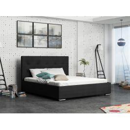 Čalouněná postel SOFIE 1 160x200 cm, černá látka