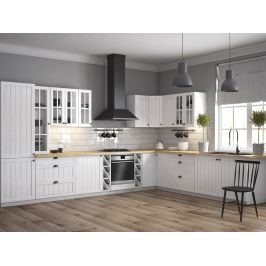 Rohová kuchyně PROVANS 550/320 cm, borovice andersen