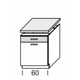 KAMDUO, dolní skříňka DUO DS6/1+PD, hruška/ořech