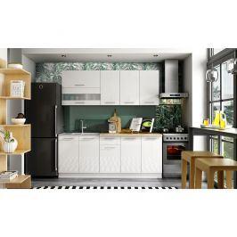 Kuchyně TIFFANY 200 cm, bílý lesk