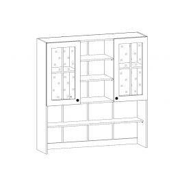 PROVANS horní vysoká vitrína K120, borovice andersen