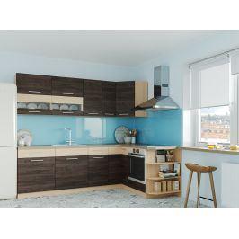 Rohová kuchyně MODENA 250x170, rijeka tmavá