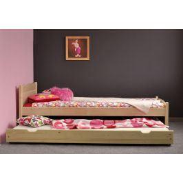 Přistýlka pod postel 200 cm, masiv borovice