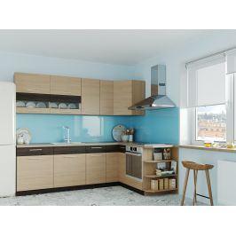Rohová kuchyně MODENA 250x170, rijeka světlá