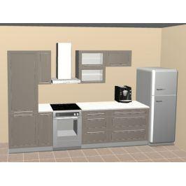 Kuchyně QUANTUM 240/150 cm, beige mat/lava