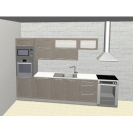Kuchyně QUANTUM 260/200 cm, beige mat/lava