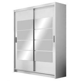 Šatní skříň VANCOUVER bílá/zrcadlo