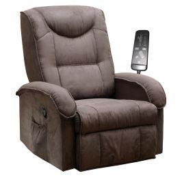 Relaxační křeslo K38-BOBY, hnědé