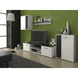 Moderní MB Domus Obývací stěna Zuzana 2, černá/bílá