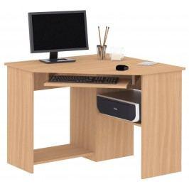 Praktická MB DOMUS PC stůl SMART 1 buk MB Smart 1-buk, (š./h./v.): 90/90/72 cm.