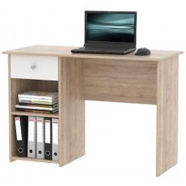 MB Domus Praktický psací stůl se zásuvkou KURT, dub sonoma/bílá