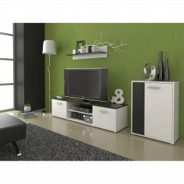 Moderní MB Domus Obývací stěna Zuzana 3, černá/bílá