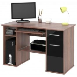 Černá PC stůl SAMUEL švestka/černá HGS MB Samuel-švestka/černá HGS lesk