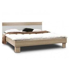 Kvalitní forte GOLDSTAR, postel 160x200 cm, dub sonoma/bílá
