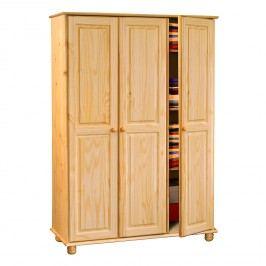 Idea Skříň třídvéřová S8863-I, masiv borovice dřevěná