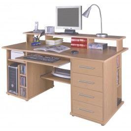 Praktická PC stůl FRANZ buk MB Franz-buk
