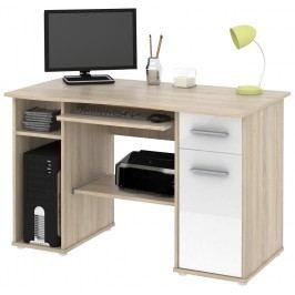 PC stůl SAMUEL sonoma sv./bílá HGS MB Samuel-sonoma sv-/bílá HGS dub sonoma lesk