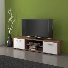 MB Domus Televizní stolek ZU01, švestka/bílá