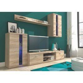 Kvalitní smartshop Obývací stěna LITE, dub sonoma lamino