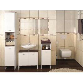Kvalitní bílá extom MOLLA, koupelnová sestava, BEZ UMYVADLA