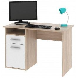 MIRO PC stůl dub Sonoma / bílá lamino