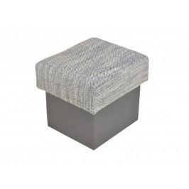 Kvalitní smartshop Taburet SANTANA, šedá látková s úložným prostorem