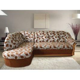 Kvalitní smartshop Rohová sedačka SANTI, levá, látka: DEXTER hnědá olše s úložným prostorem