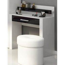 MORAVIA FLAT VIKY, toaletní stolek, bílá/černý lesk, (šxvxhl): 80x94x42 cm lamino