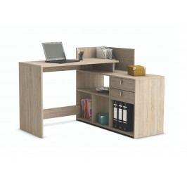 DEMEYERE VISSTA, univerzální rohový psací stůl, dub sonoma lamino