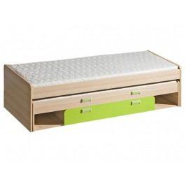 Kvalitní fialová casarredo LORENTTO, postel L16, jasan/limetka,včetně matrací lamino