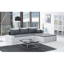 Moderní smartshop Rohová sedačka MAXIMO, univerzální, šedá/bílá látková