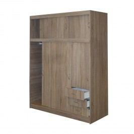 Idea Skříň s posuvnými dveřmi 53000, dub sonoma lamino